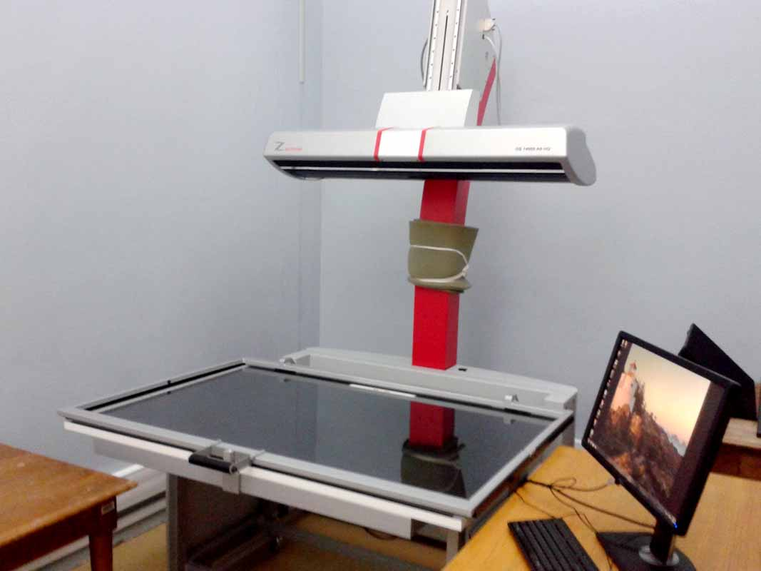 8. Overhead scanner for the digitisation of archives