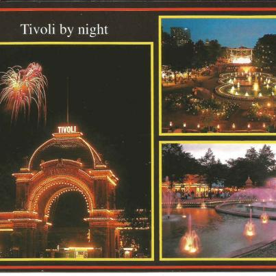 Copenhagen, Tivoli by night (Amusement Park)