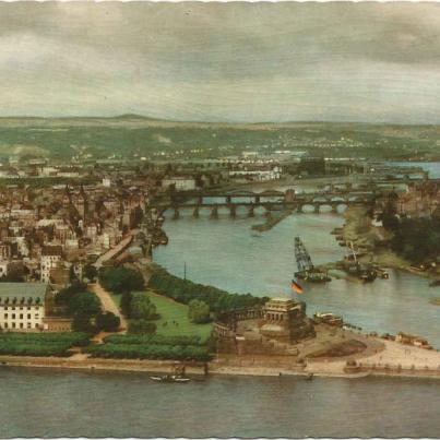 Koblenz, Deutches Eck (Where the Moselle joins the Rhine)