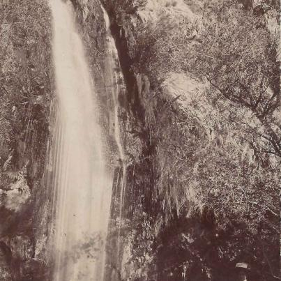 The Waterfalls, Porterville, Cape Colony, postal cancellation 1912